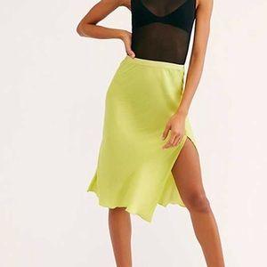 Free People Green Skirt Sz S